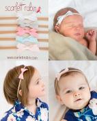 5 Ribbon Bows on Nylon Headbands Multi-packs for Baby and Girls. {Scarlett Robin Brand}