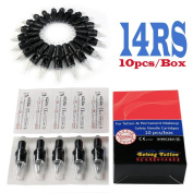 Solong Tattoo Disposable Tattoo Needle Cartridges Spring Drived Round Shader (RS) 10pcs/Box EN03-14RS