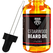 BEARD OIL - CEDARWOOD by Rogue Beard Company 100% ORGANIC Beard Oil and Leave-in Conditioner