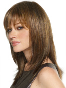 Hmy Mix Colours Natural Shoulder Length Straight Synthetic Quality Women's Medium Wig