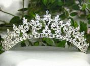 Janefashions Sexy Clear Austrian Rhinestone Crystal Crown Tiara Combs Bridal Wedding T301s