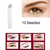 CINRA 100pcs Permanent Makeup Manual Eyebrow Tattoo Needle Microblading