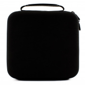 Essential Oil Carrying Case Holds 30 5ml/10ml/15ml Bottles; Black Nylon Travel-Friendly Foam-Padded Organiser with Handle and Zipper