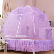 Yurts Double Open Door Zipper Dinette Home With Mosquito Nets ( Colour : Purple , Size : 1.5m