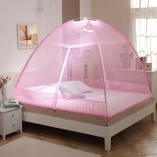 Mongolian Bag Holder Free To Instal Mosquito Nets ( Colour : Pink , Size : 1.8 m