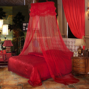 European Wedding Red Ceiling Mosquito Nets ( Size : 1m