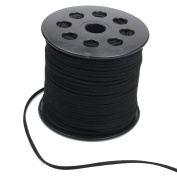 RERIVER 2.5mm 100 Yards/roll Faux Suede Cord String Flat Suede Lacing