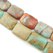 """COIRIS 15"""" Strand 25x18mm Oblated Rectangle Shape Beads Natural Real Stone For Jewellery DIY Making Design"""