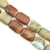 """COIRIS 15"""" Strand 18x13mm Oblated Rectangle Shape Beads Natural Real Stone For Jewellery DIY Making Design"""