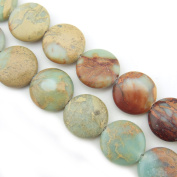 """COIRIS 15"""" Strand 16X16mm Oblated Round Beads Natural Real Stone For Jewellery DIY Making Design"""
