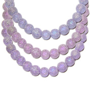 STARDUST GLASS BEADS ROUND 5-6mm ALEXANDRITE colour changing 16 inch strand SPECIAL