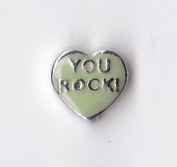 You Rock Heart Floating Charm