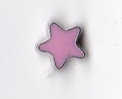 Pink Star Floating Charm