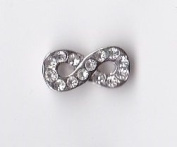 Infinity with Clear Crystals Floating Charm
