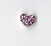 Heart of Pink Crystals Floating Charm