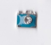 Blue Camera Floating Charm