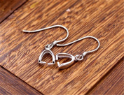 MFMei White Gold Plated Earring Findings, Jewellery Making