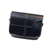 Xjp Casual Small Shoulder Bag Leather Solid Colour Crossbody Messenger Bag Purse Bag