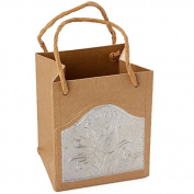 Set of 2 Ready To Decorate Tulip Embossed Paper Mache and Tin Bags for Crafting, Creating and Designing