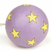 Package of 6 Handmade Paper Mache Star Patchwork Ball Ornaments for Tree Trim, Crafting and Embellishing