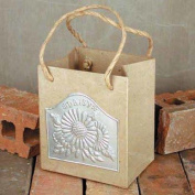 Set of 2 Ready To Decorate Paper Mache and Daisy Embossed Tin Bags for Crafting, Creating and Designing