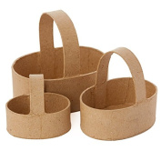 4 Sets of 3 Ready to Embellish Small Paper Mache Baskets for Crafting, Storing and Creating- 12 Baqskets