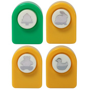 Marvel Education Paper Punch 4-Pack, Duck, Rabbit, Bear, and Tree