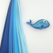 Tones of Blue - 5 mm - 100 Quilling Strips