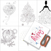 Boieo Quilling Kit with Quilling Paper Strips & 12 styles Quilling Cards