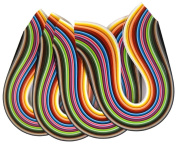 Shilpi Quilling Paper Strips, 1200 Strips, 30 Colours, Width-3/5/7/10mm, Length-43cm, Pack of 4 Sets