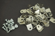 ( Pack of 100 ) Triangle Ring Hanger Picture Frame Hook Hangers with Screws