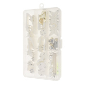 Jili Online 38 Pieces/Set Picture Wedding Photo Frame Hanging Wall Hooks Seamless Invisible Nail Hangers with Box