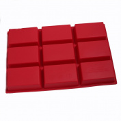 SK 9-Cavity Silicone Mould for Soap, Cake, Bread, Cupcake, Cheesecake, Cornbread, Muffin, Brownie, and More