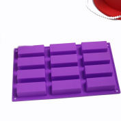 SK 12 Cell Sponge Finger Silicone Mould Cake Bar Bakeware Mould Baking Tray