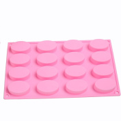 SK 16 Oval Cavities Chocolate Candy Maker Silicone Mould Cake Baking Mould Muffin Cup