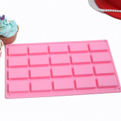 SK 20-Cavity Mini Silicone Mould for Homemade Soap, Cake, Chocolate, Candy, Cookie, and More