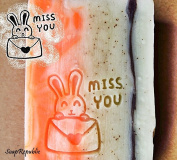 SoapRepublic Miss You Acrylic Soap Stamp / Cookie stamp