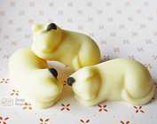 SoapRepublic Mini Sleeping Cats / 3 in 1 / Silicone Soap Mould