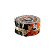 Carta Bella Trick or Treat Rolie Polie 40 6.4cm Strips Jelly Roll Penny Rose Fabrics