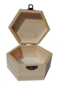 StarMall Wooden Hexagonal box