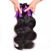 AOERT Queen Pervuian Body Wave 100% Remy Human Hair Grade 8A Unprocessed Virgin Hair 3 Bundles Natural Black Human Hair Extensions