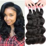 Pizazz (14 16 18 50cm ) Virgin Peruvian Body Wave Hair 4 Bundles 7A Unprocessed Virgin Human Hair Weave Natural Colour