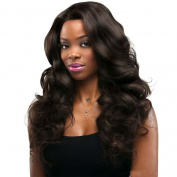 YongerBeuaty Loose Wave Full Lace Human Hair Wigs 130% Density Virgin Brazilian Remy Huamn Hair Natrual Black for Women Dress