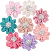 Deercon Boutiques Shining Chiffon Alligator Hair Clips Perfect Gift for Girls Infant Kids Children