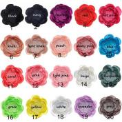 Deercon Soild Colour Multi-layer Barrettes Hair Accessories Dress Decoration for Infant Newborn Baby Girls