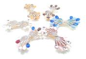 6pcs/set Women Girls Colourful Rhinestone Hair Clip Barrette Hairpin Bride Headwear Hair Accessories