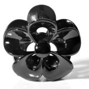MHU Black Plastic Hair Accessory Claw Clip Clamp Grip Flower Headgear Headdress