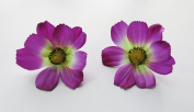 1 Pair Cosmos flower Hair Clip 2.50 inches (6.50 cm.)