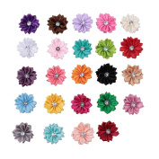 Deercon Hair Sunflower Hairpins for Children Teen Girls and Women Pack of 24