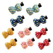 Cute Girls Cloth Bowknot Hair Clip Boutique Baby Toddler Girls Hair Bow Hair Clips Barrettes